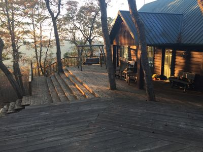 Photo for Beautiful and roomy two bed, two bath cabin nestled in the Kiamichi Mountains