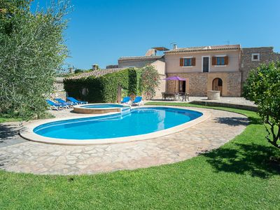 Photo for Children pool, quiet location with panoramic views, charming country house,
