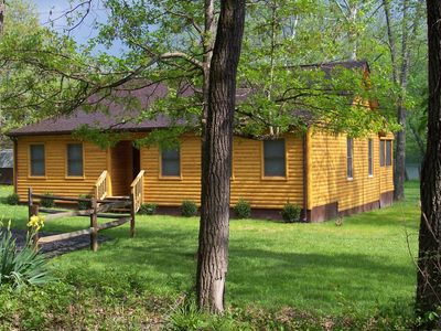 Photo for Shenandaoh Dreaming Riverfront Log Cabin - LIFE IS GREAT ON THE RIVER!