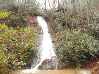 Photo for Small Cabin with 100'  Private Waterfall  on 24 Acres