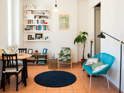 Photo for Nice apartment typical Marseillais style, close to the Good Mother!