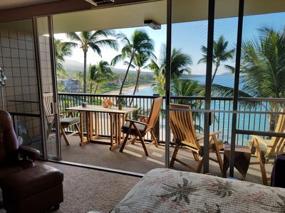 Photo for SUPERIOR Beach front ocean end unit with A/C. Stunningly remodeled throughout