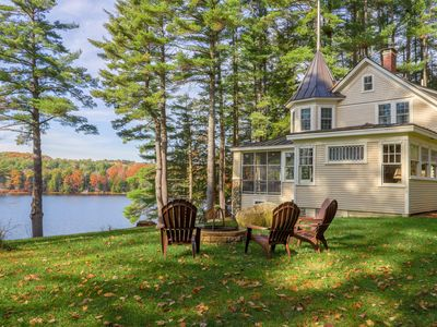 Photo for Lovely lakefront home w/ private dock, screened porch, firepit & gorgeous view!