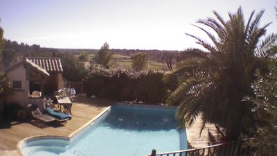 Photo for Villa with pool between sea and Cévennes, near Montpellier, heart of Languedoc