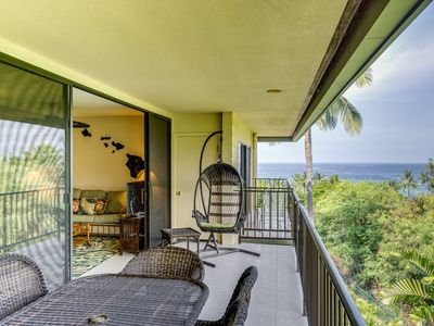 Photo for Island Condo w/ Partial Ocean View Lanai, Across Kahaluu Beach Park *WiFi Included*
