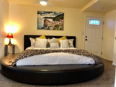 Master bedroom with private entrance.