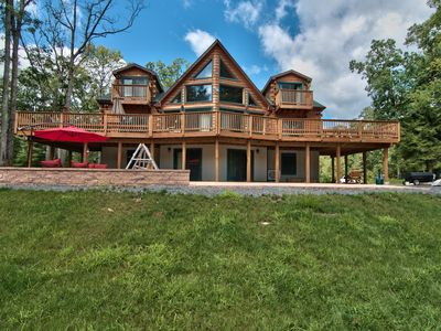 Photo for 50 Private Acres, Pond, WIFI, Secluded, Minutes To Slopes/Casino, Sleeps 30!