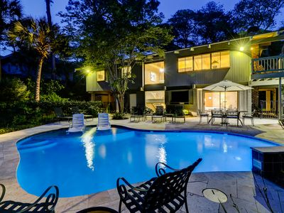 Photo for Classic DOG FRIENDLY Five Bedroom 2nd Row Ocean Sea Pines Home with a Pool