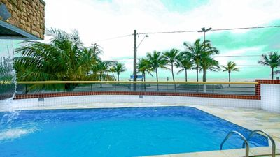 Photo for M027- Oceanfront 2 bed - (11) 98167-1362- SWIMMING POOL