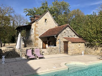 Photo for Exquisite secluded cottage for a couple, with terraces and private swimming pool