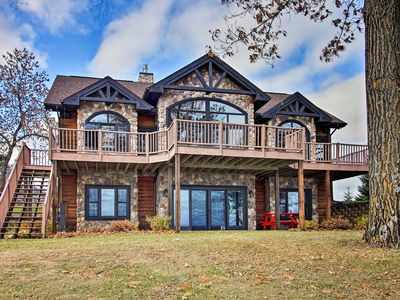 Photo for NEW! Lakefront Cabin w/Game Room & Water-View Deck