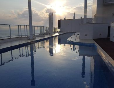 Photo for Apartment with direct exit sea, pool, balcony, barbecue!