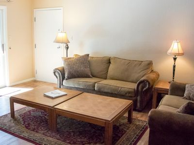 Photo for Summer Special! Charming 2-bedroom condo with on Lake Fork River with forest views -- walk to ski li