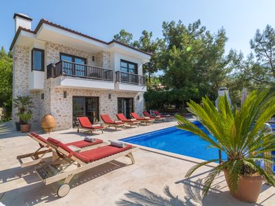 Photo for Rural Stone Villa With Private Infinity Pool and Garden, Sea And Mountain Views.