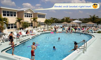 Photo for Waterview and Poolside Barefoot Beach condo