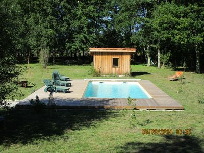 Photo for Character LANDAISE house with swimming pool in the heart of the forest