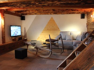 Photo for chalet 1785 sqm and sauna classified in the local heritage in Aravis 4 *