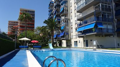 Photo for Apartment 4/6 people 1st line panoramic sea view with swimming pool