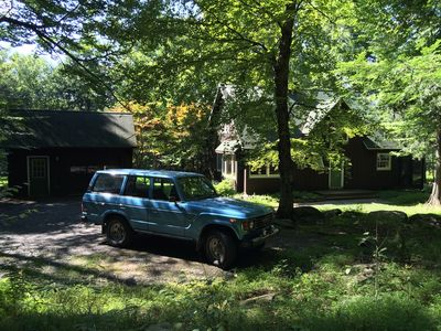 Land cruiser from the woods out front