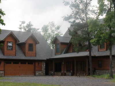 Photo for Gated Hilltop Luxury Lodge on 30 acres, offers unparalled privacy