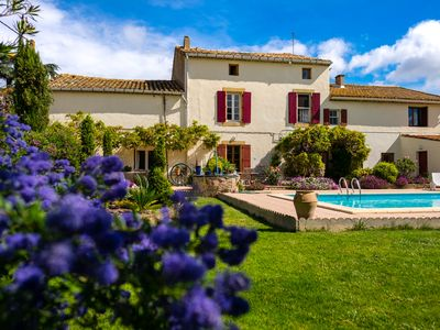 Photo for Le Fitou - 3 bedroom Gite with garden and pool near Canal du Midi in Languedoc