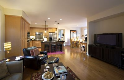 Family Room with Open Kitchen Floorplan for easy entertaining