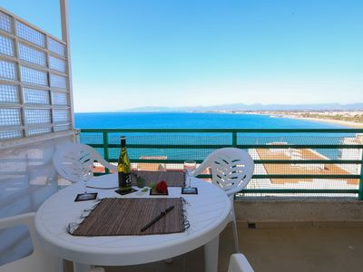 Photo for 127 - PARADIS 2. One bedroom apartment with sea views and pool