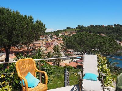 Photo for It is located in a fantastic location slightly above Porto Azzurro, a picturesque port town on the s