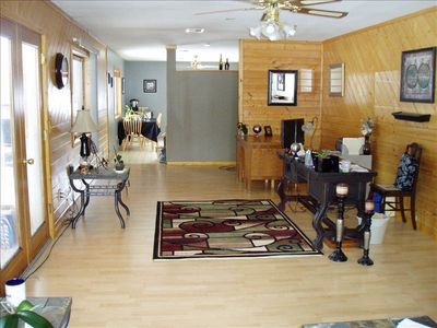 Spacious Family Area includes office space and family/TV area