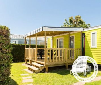 Photo for Camping Le Bel Air ***** - Maeva Camping - Mobil Home Prestige 4 Rooms 6/8 People Air-conditioned