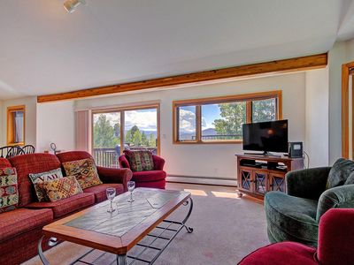 Photo for Spacious home with private hot tub & views, dog friendly, garage & new king bed. FREE activi