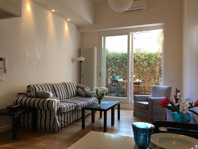 Photo for Quiet design apartment in the heart of Florence with private outdoor courtyard