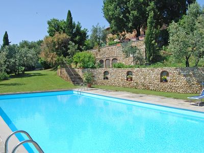 Photo for Charming Villa w/ pool nestled in Chianti vineyards, with AC, close to Florence