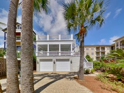Photo for Directly across the street from the beach, private heated pool and ocean views.