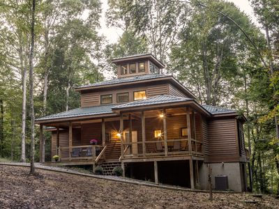 Photo for New Construction ~ 4 Bedroom, 3.5 Baths, 3 Decks, Pond View Near New River Gorge