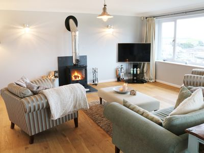 Photo for CABLE HOUSE, pet friendly, with open fire in Cemaes Bay, Ref 991936