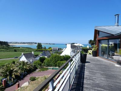 Photo for PANORAMIC SEA VIEW terrace apartment 8 people 300m from the beaches