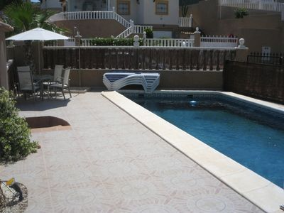 Photo for New luxury villa with good sized private swimming pool Villamartin