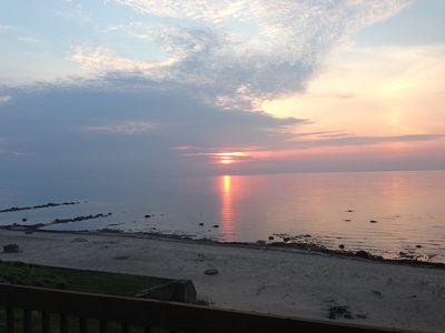 Photo for Hoff Cottage - Right On The Beach. Free Wi-fi, BBQ grill and fire pit on beach