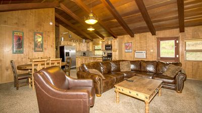 "Photo for Whispering Pine Cabins ""High Sierra"" - Hot Tub - Fireplace - Upper Canyon"