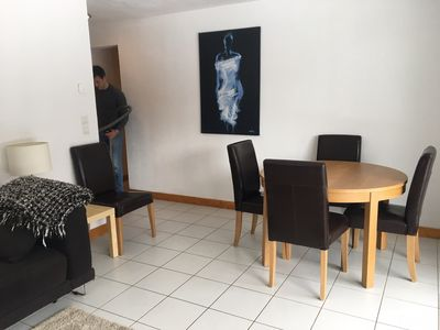 Living area dining space