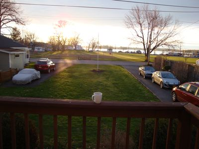 Morning view from front deck on an early Spring day.
