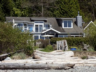 Photo for Beach house Gibsons Fantastic beach house cozy storm watching Nov Special deals