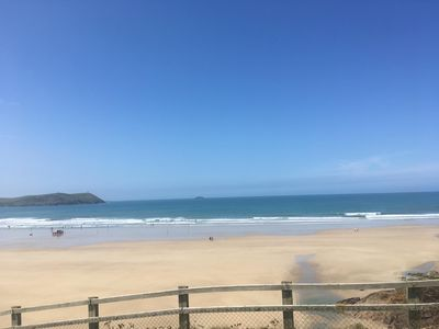 Photo for Luxury Lodge 60 yards from Polzeath Beach, 3 Bedrooms ,Sleeps 6