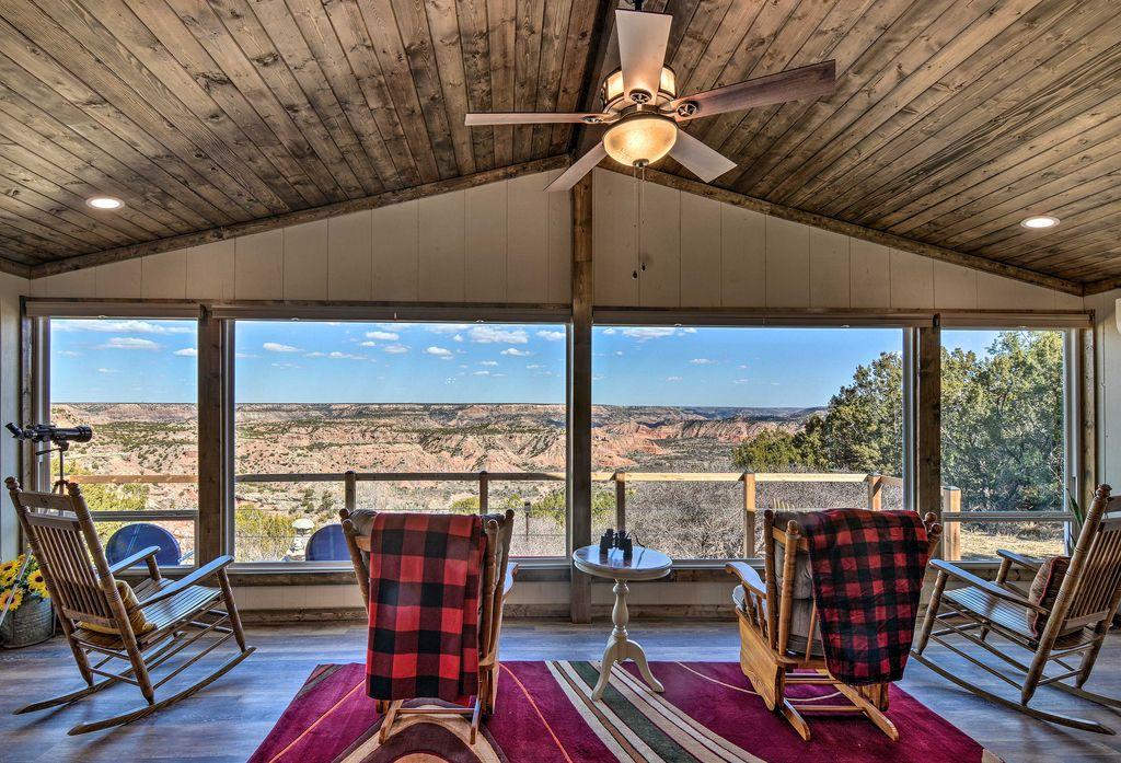 Inside or outside the cliffside home, you'll get to enjoy these views!