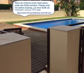 Photo for Cozy apartment close to the beach 100 meters beach air conditioning
