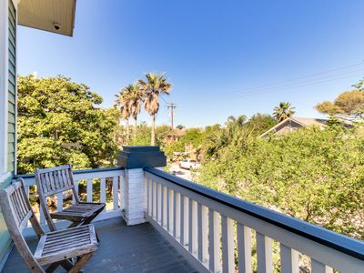 Photo for Historic, dog-friendly home w/ shared patio close to the seawall and beach