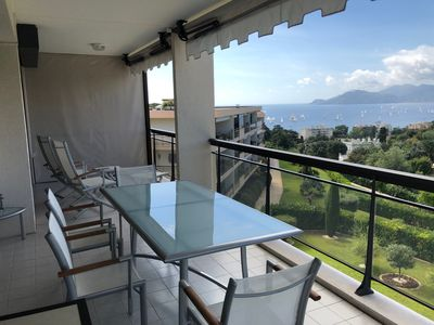 Photo for IMMOGROOM - 4**** Swimming- Pool -A/C-terrace - sea view -CONGRESS/BEACHES
