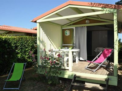 Photo for Camping L'Abri-coastal *** - Chalet Moréa 3 rooms for 5 people