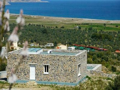 Photo for Kalathos Stone Era is a stone-built villa with... - Two Bedroom Villa, Sleeps 8
